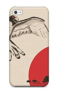 Hot Fashion Tpu Case For Iphone 5c- Japanese Art Defender Case Cover 7063993K63391520