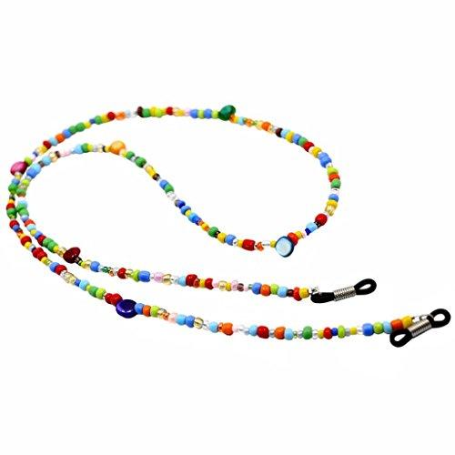 MonkeyJack Gorgeous Colored Beads Shell 76cm Vintage Eyeglasses Chain Reading Glass Holder for Womewn Girl