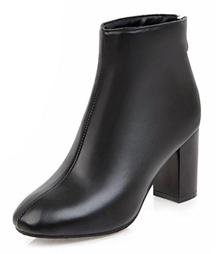 Unie Boots Couleur Low Noir Bottines Aisun Femme Sexy qg4Un6T