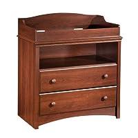 South Shore Furniture 3246331 Cambiador de 2 cajones South Shore con almacenamiento abierto, Royal Cherry