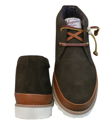 Desert Boots Penguin Leather Shoes Ashland Mens Marron Uxqf7Z
