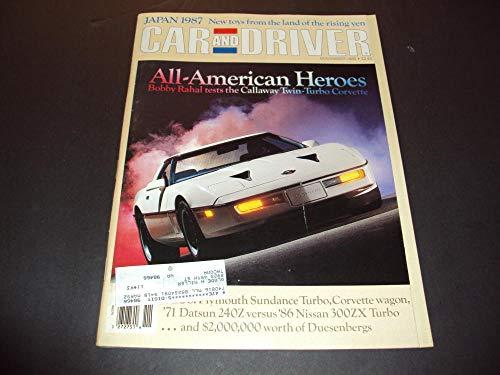 - Car And Driver Nov 1986 Bobby Rahal Callaway tests Twin-Turbo Corvette
