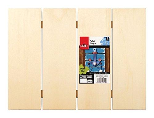Plaid Enterprises, Inc. 40643E Pallet Plaque Wood Surface 15.75'' X 11.75''