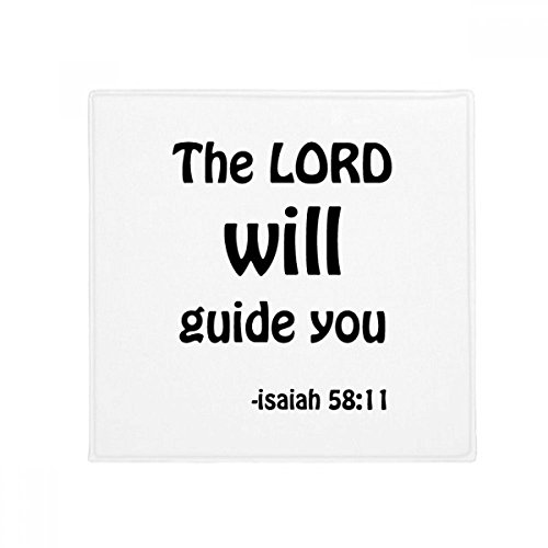 DIYthinker The LORD Will Guide You Christian Anti-slip Floor Pet Mat Square Bathroom Living Room Kitchen Door 60/50cm Gift by DIYthinker