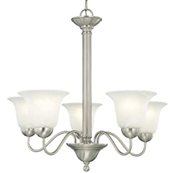 Thomas Lighting SL8811-78 Riva 5-Light Brushed Nickel Chandelier, Five