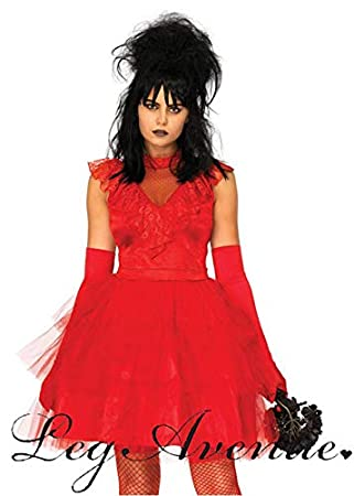 Magic Box Disfraz de Lydia Red Bride para Mujer Beetlejuice Style M (UK 10-