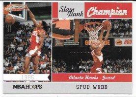 Spud Webb Dunk - Spud Webb 2011-12 NBA Hoops Slam Dunk Winners Atlanta Hawks Insert Card #3