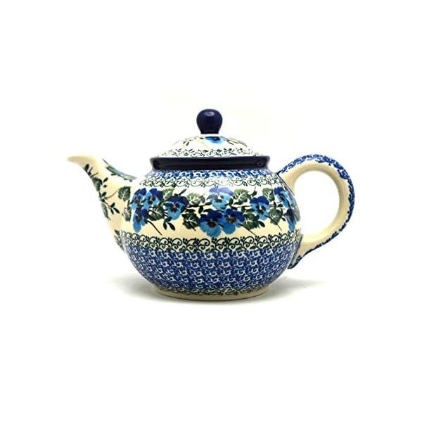 Polish Pottery Teapot – 3/4 qt. – Winter Viola