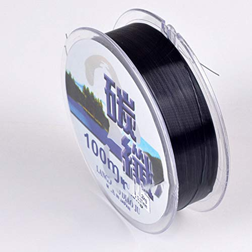 Dasny Fluorocarbon Fishing Lines 100M Carbon Fiber Leader Fly Line Fast Sinking for Carp Fishing