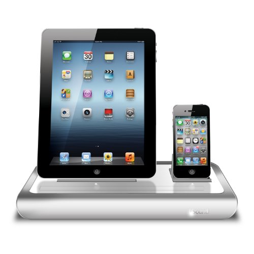 iSound Power View Pro S Charge and View Dock with 2 Apple 30 Pin Charge for iPad 1 2 & 3, all iPhones (except for iPhone 5 and above) , all iPod touches and more (white) by iSound (Image #1)
