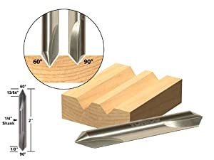 Yonico V Groove Solid Carbide Router Bit from Yonico
