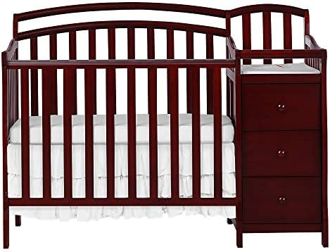 Amazon.com : Dream On Me Casco 3 In 1 Mini Crib And Dressing Table Combo  Cherry : Nursery Furniture Sets : Baby