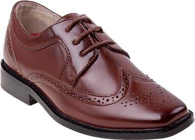 7b8c7d23bc9b Image Unavailable. Image not available for. Color  Joseph Allen Boys  Black  Brown Polyurethane Dress Shoes Brown