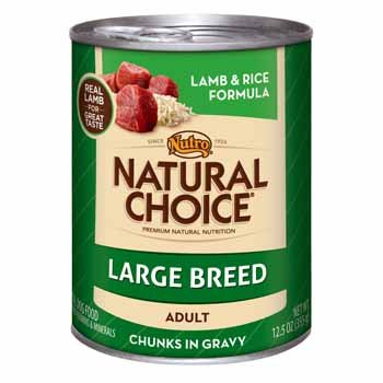 Nutro Natural Choice Lamb and Rice Chunks in Gravy, Large Breed Adult