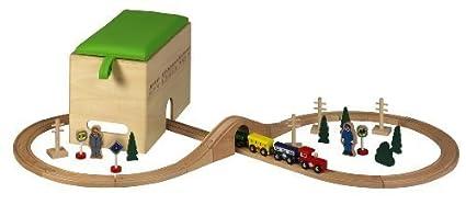 Kids Toy créatif jouet bois de frein Chemins De Fer de Construction Cuisine de jeu de Banque Jouet éducatif Unbekannt