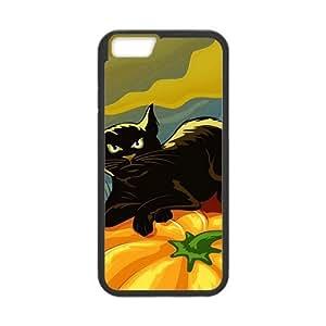 Happy Halloween fierce black cat Case for Iphone 6