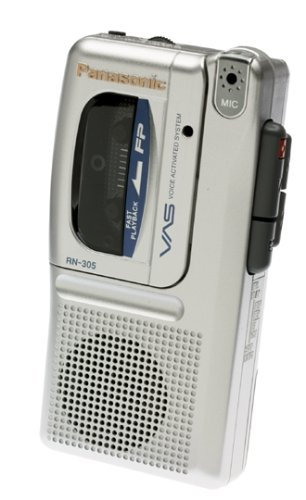 Panasonic RN305 Micro Cassette Recorder with Voice Activation System by Panasonic