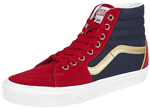 Marvel Slip White Skate Classic VN0A38F79H7 Marvel On Shoes True Vans Captain Man Spider Marvel Black w16qv6B5x