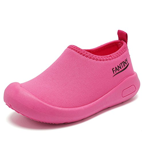 CIOR Kids Slip-on Casual Mesh Sneakers Aqua Water Breathable Shoes For Running Pool Beach (Toddler/Little Kid) SC1600 Red 24 0