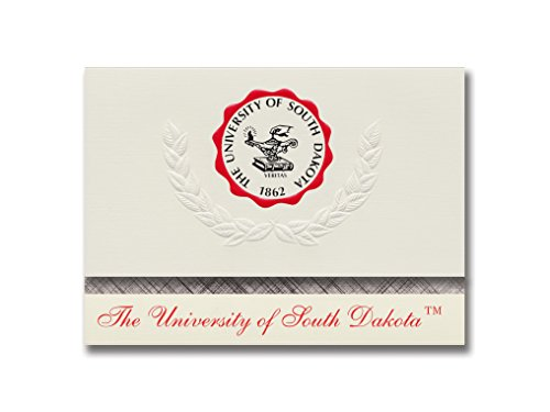 Dakota Seal - Signature Announcements University of South Dakota Graduation Announcements, Platinum style, Basic Pack 20 with U. of South Dakota Seal Foil
