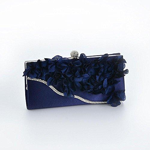 Azul Mujer Cartera Plateado Marino Para De Mano Aolvo xa1nPzq6pn