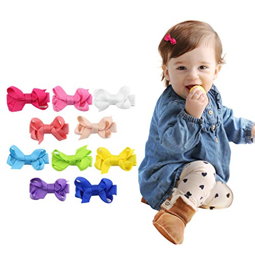 DEEKA Tiny No Slip Hair Clip for Baby Girls Toddlers Fully Lined 2
