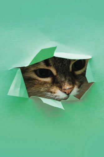 Funny Peeking Cat Notebook: Pop Art Cat Journal   120-Page Lined (Designer Notebooks) (Volume 3)