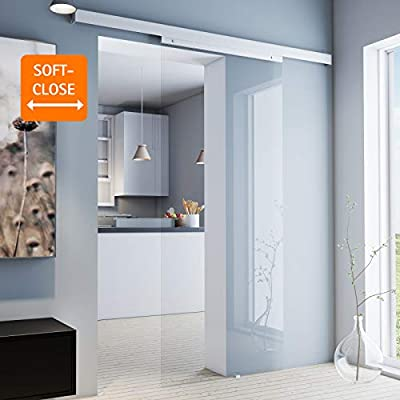 inova - Puerta corredera de cristal 755 x 2035 mm, puerta de ...