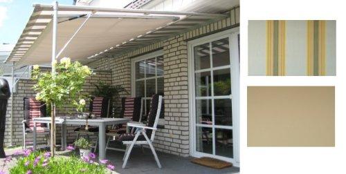 Leco Luxus Markise Vlexy Plus 3x4m Terrassenüberdachung Sonnenschutz gelb gestreift
