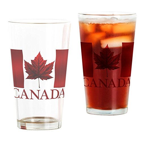 CafePress Canada Flag Souvenirs Canadian Maple Leaf Gifts Dr Pint Glass, 16 oz. Drinking Glass (Glasses Souvenir Pint)