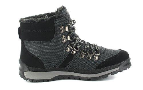 KangaROOS Pirin-Medium 31534/338 - Botas de tela para mujer negro
