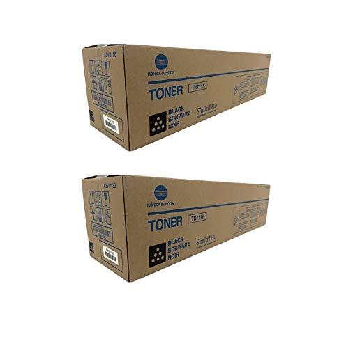 Konica Minolta A3VU130 TN711K OEM Toner Cartridge 2 Pack, 47200 Page-Yield Per Ctg, Black ()