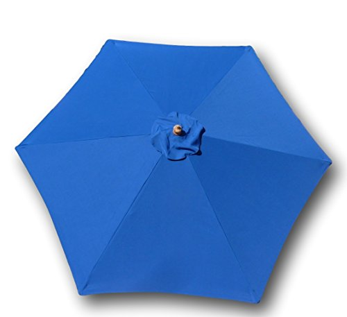 9ft Umbrella Replacement Canopy 6 Ribs in Royal Blue (Canopy Only)