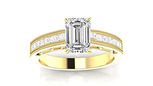 2.35 Carat 14K Black Gold Graduating Classic Halo Prong And Pave-set Round Diamond Engagement Ring with a 2 Carat Natural Ruby Center (Heirloom Quality) 2 Ct Ruby Ring