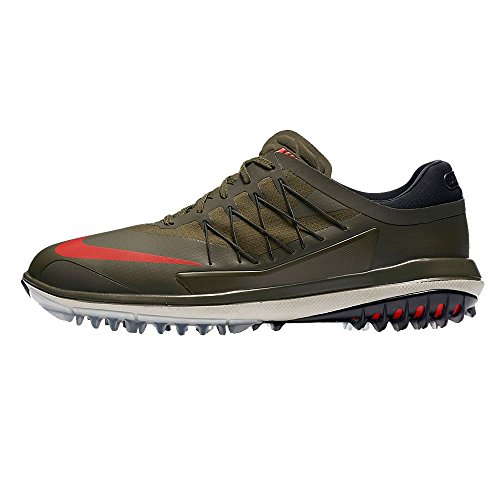 Nike Lunar Control Vapor Spikeless Golf Shoes 2017 Cargo Khaki/Palm Green/Light Bone/Lava Glow Medium 11