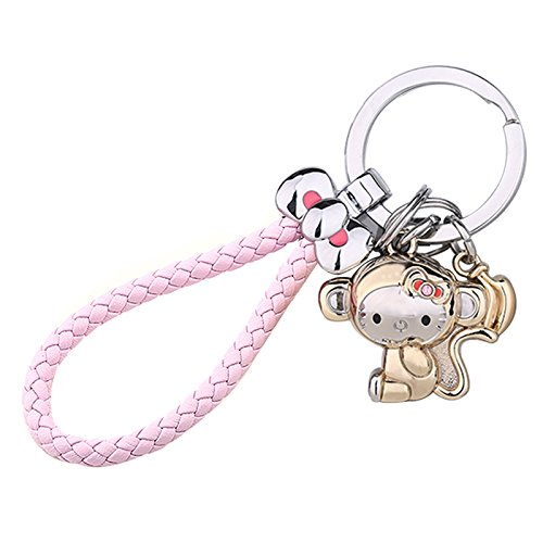 Joinor Cute 3D Funny Monkey Keychain, Key Holder, Key Ring/Chain Holder Purse Car Hanging Pendant Decoration Gift