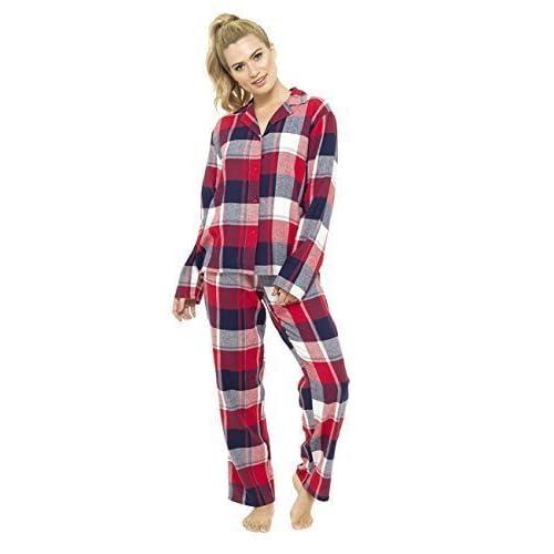 d17da0f7c hot sale 2017 Mujer Hilo Teñido tradicional de Cuadros Pijama Largo ...