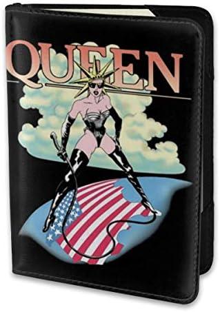 QUEEN クイーン パスポートケース メンズ レディース パスポートカバー パスポートバッグ 携帯便利 シンプル ポーチ 5.5インチ PUレザー スキミング防止 安全な海外旅行用 小型 軽便