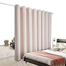 PANOVOUS Privacy Room Divider Curtain - Hide Clutter Separate Functions Grommet Top Room Divider Curtain Panel for Bedroom