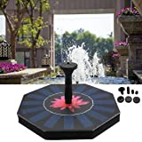 SLB Works Brand New Solar Power Fountain Water Pump Panel Kit Set Garden Pond Pool Outdoor Aquarium