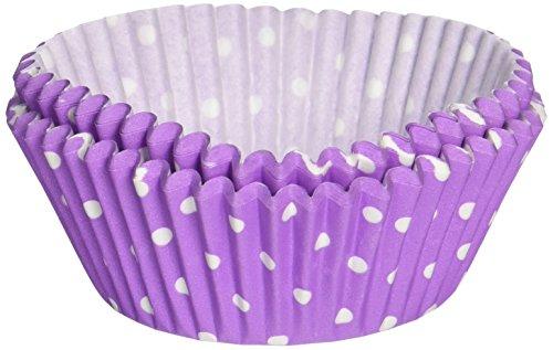 Fox Run 6896 Polka Dot Bake Cups, Purple -