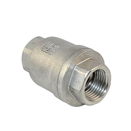 SUS/SS316 Spring Loaded Check Valve In-line CF8M WOG 1000 (100 Psi Light Oil)