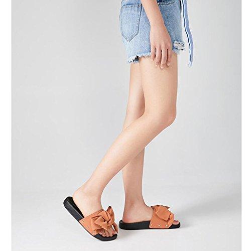 Spiaggia Basso Estive Sandali Femminili Donna Ciabatte Da Piatto Fondo Infradito Casual Pantofole E Tacco Brown Xy Con Rivetti Scarpe fCqRFx