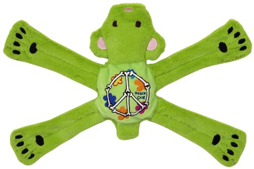 Doggles Hippie Penta Dog Toy, Green, Bear, My Pet Supplies