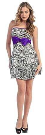 Prom Dress for Junior Short Designer Gown #615 (16, Purple)