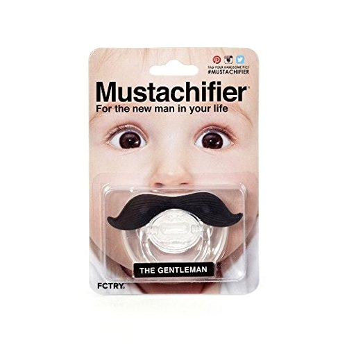 FCTRY - The Gentleman Mustache Pacifier - Black Mustachifier