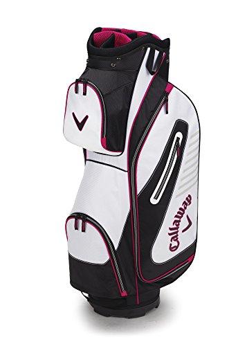 Black Golf Club Bags - Callaway Golf 2017 Capital Cart Bag, White/Black/Pink