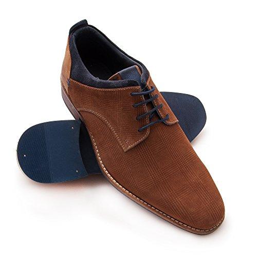 Zerimar Zapato de Piel Para Hombre Zapato Elegante Para Hombre cogñac