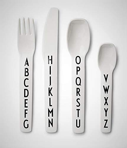 Design Letters - Kids Alphabet Cutlery/Flatware - 4 Pieces ()