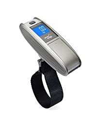 Smart Weigh Portable Digital Luggage Scale, EZ Grip Handle w/ 50kg / 110lb Capacity, Silver